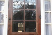 Vintage Styled Wood Storm Door With Solid Teak Wood Material Built in proportions 1024 X 1365