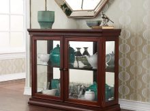 Wooden Glass Display Case Durable Vintage Stand Cabinet Curio throughout measurements 1000 X 1000