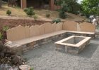 1608g Rectangle Stone Firepit Seat Wall With Back Flagstone Back for dimensions 3264 X 2448