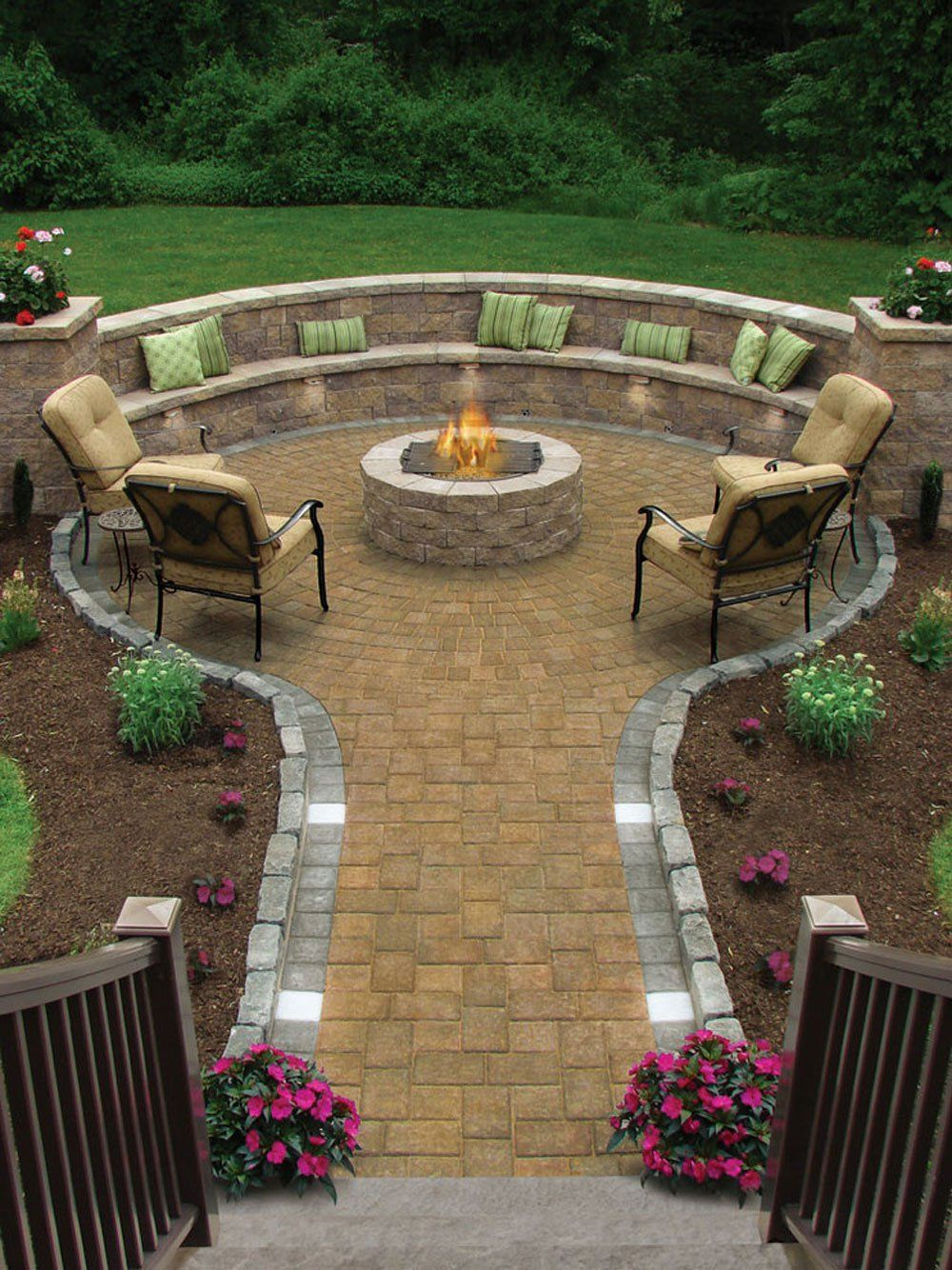 17 Of The Most Amazing Seating Area Around The Fire Pit Ever throughout sizing 1000 X 1334