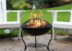 18 Black Steel Fire Pit Spark Ash Screen Built In Log Holder Wood regarding sizing 3000 X 3000