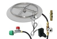 18 Round Flat Pan 12 Ring Spark Ignition Fire Pit Kit Lpr regarding proportions 1000 X 1000
