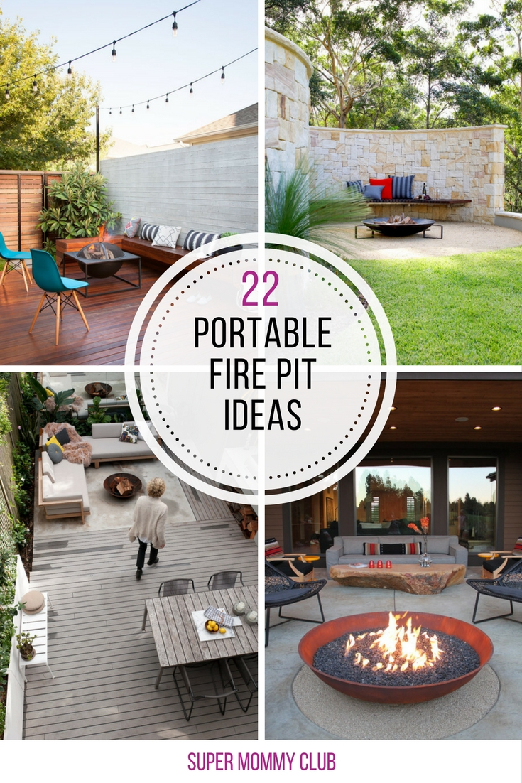 22 Amazing Portable Fire Pit Ideas For Romantic Summer Evenings in dimensions 735 X 1102
