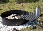 24 Steel Fire Ring With Cooking Grate Campfire Pit Park Grill in dimensions 1600 X 1033