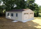 24x24 Vinyl Modular Garage With Homestead Doors With Concrete Site in size 1024 X 768