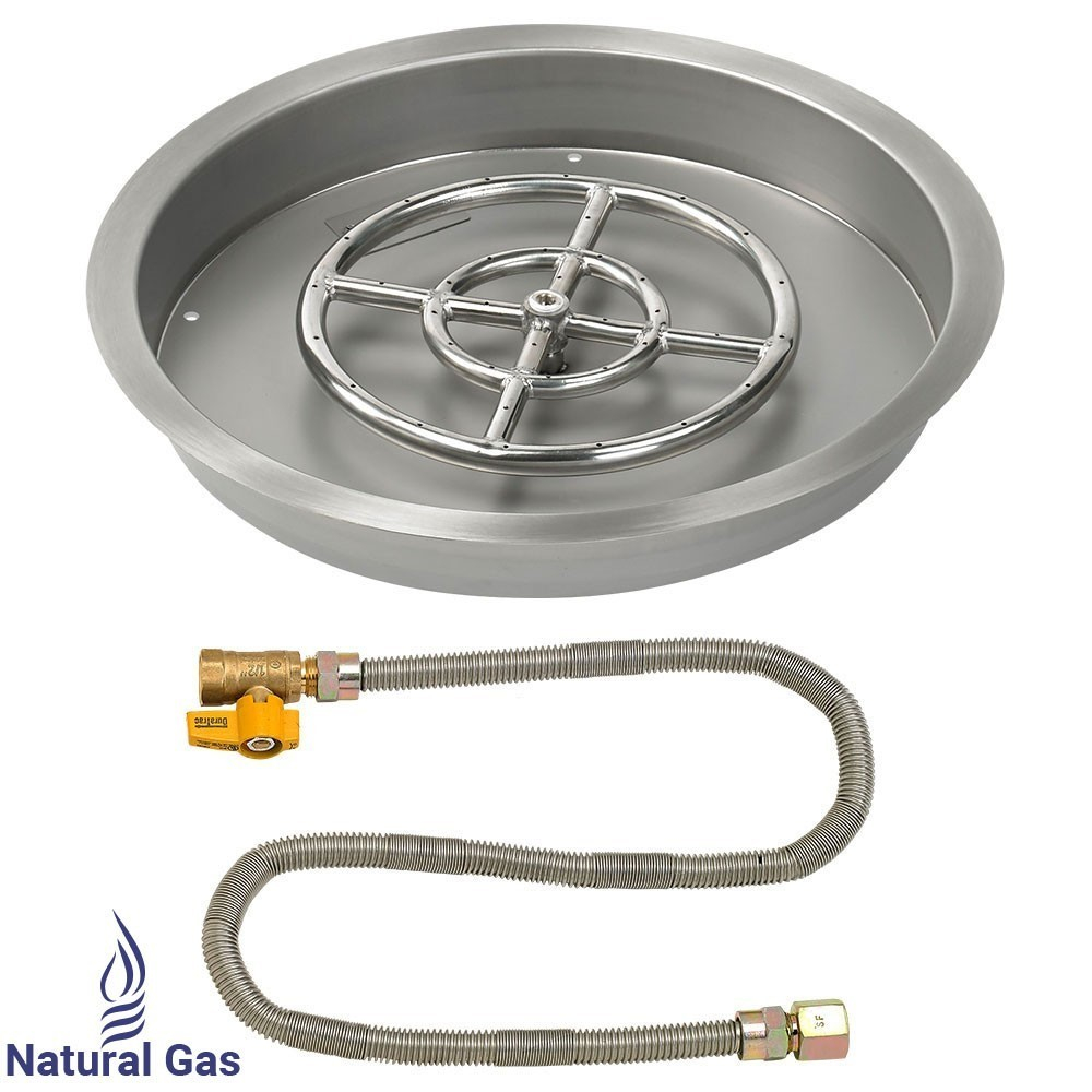 25 Drop In Burner Pan Round Match Lite Round Gas Fire Pit with regard to proportions 1000 X 1000