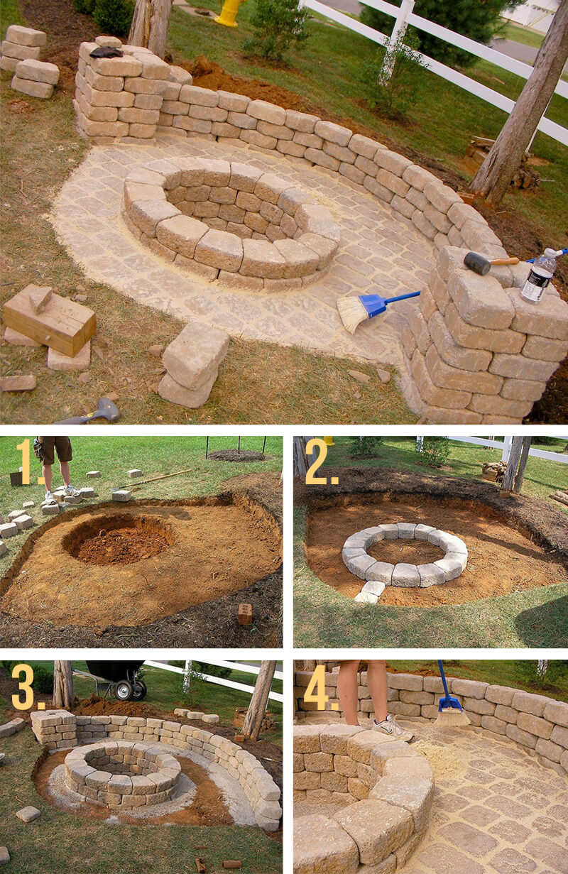 27 Best Diy Firepit Ideas And Designs For 2019 for measurements 800 X 1231