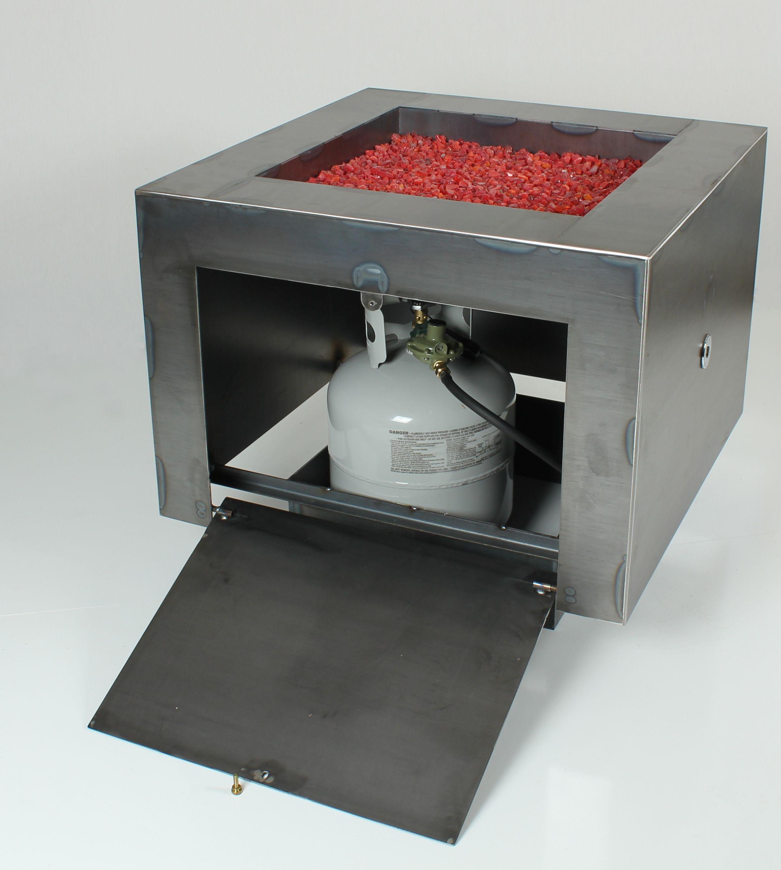 30 Square Cor Ten Steel Fire Pit Hidden Lp Tank Configuration in dimensions 2402 X 2676
