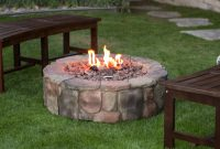 36 In Outdoor Round Camp Fire Pit Propane Gas Patio Rustic Faux in size 1600 X 1600