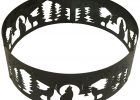 38 Inch Fire Ring Wolves Decorative Steel Fire Pit Ring Zbuys with dimensions 1500 X 1263