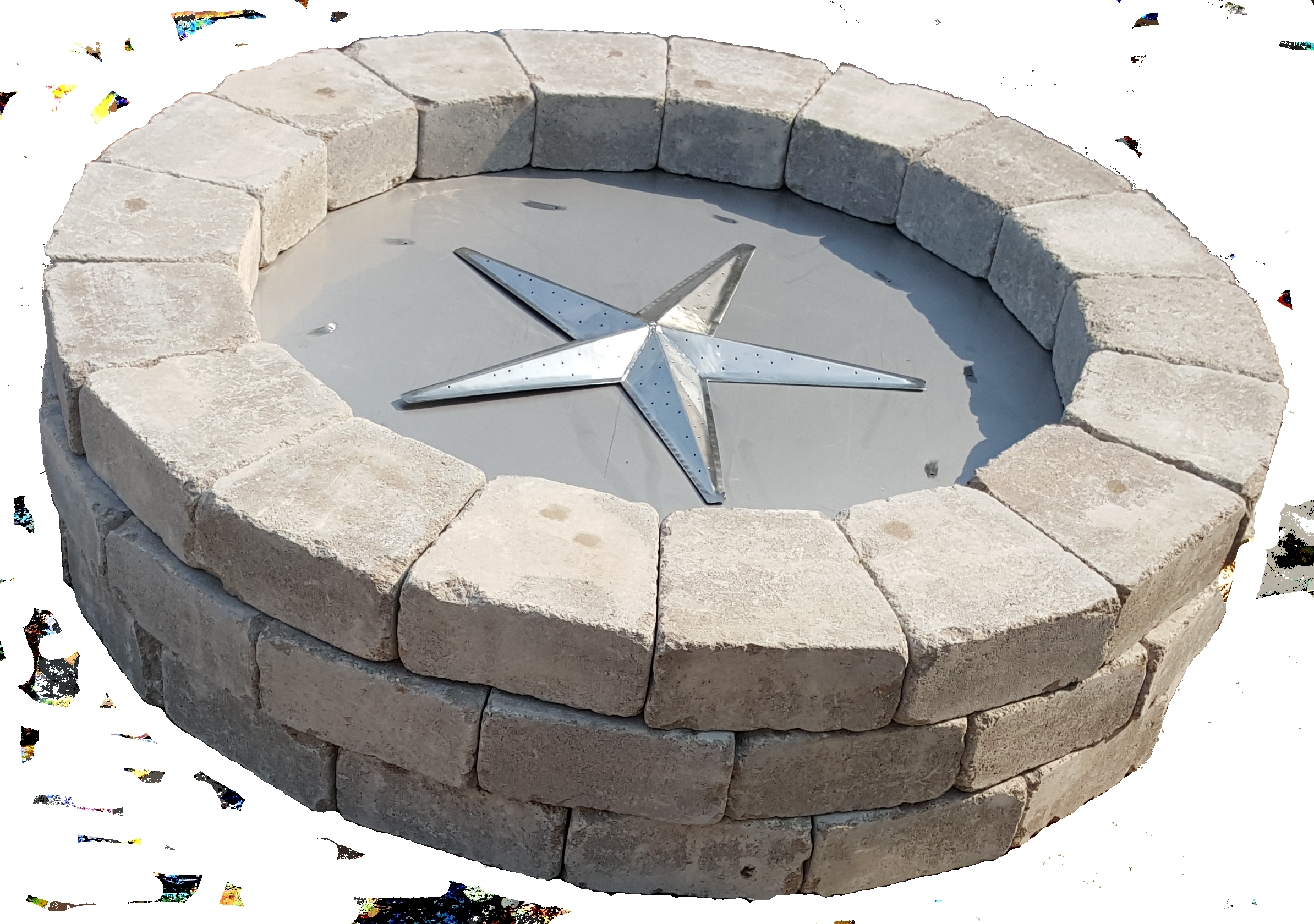 39 Inch Round Fire Pit Burner Kit Fireboulder Natural Stone with regard to dimensions 2388 X 1680