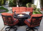 4 Piece Outdoor Patio Deck Furniture Set Round Table Gas Fire Pit 48 with regard to proportions 1000 X 1000