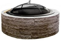 42 In Four Seasons Lightweight Wood Burning Concrete Fire Pit Earth intended for proportions 1000 X 1000