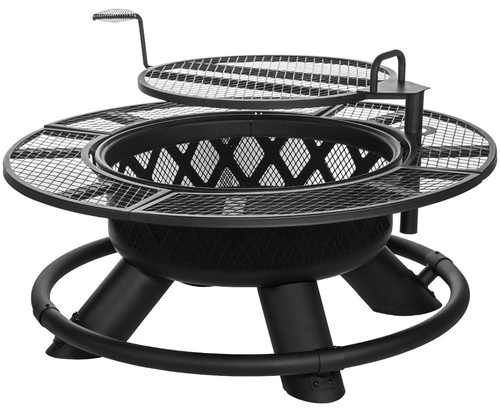 45 Fire Pit With Grill Top 24quot Outdoor Fire Pit With Grill Top inside size 1000 X 824