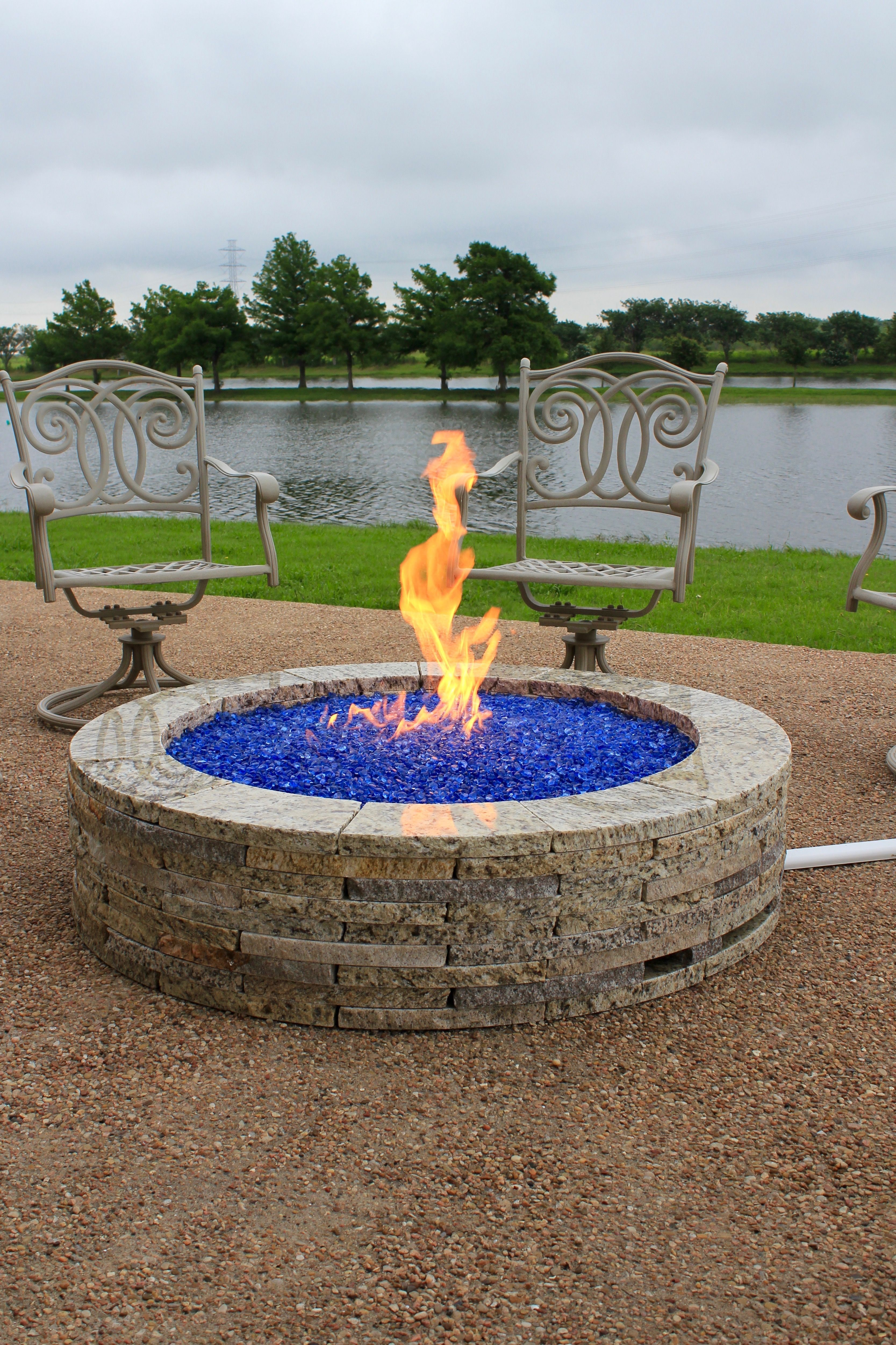 48 Granite Fire Pit With 20lb Propane Tank Conversion Kit And Sky intended for sizing 3334 X 5002