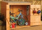 6 Ft W X 2 Ft 6 In D Wooden Horizontal Bike Shed Yard Home throughout measurements 1402 X 1402