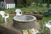 A Fire Pit Made With Culvert And Landscape Blocks Honey To Dos intended for size 3072 X 2304
