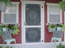 Accent Brackets Stenciled Screen Door Simple Accents That Make A throughout measurements 1920 X 1080