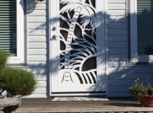 Adorable Palm Tree Security Screen Door Doors To Other Worlds pertaining to sizing 2448 X 3264