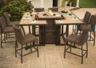 Agio Luxury High Top Fire Pit Table Set 8 Bar Chairs Ml Outdoor pertaining to proportions 5760 X 3840