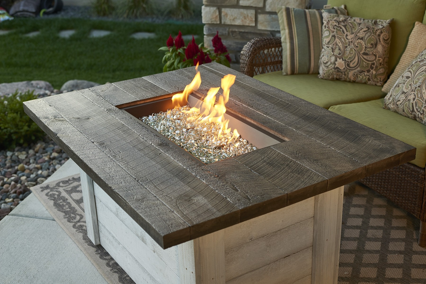Alcott Rectangular Gas Fire Pit Table inside sizing 1800 X 1201