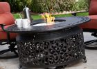 Alfresco Home San Miguel Cast Aluminum 48 In Round Gas Firepit Chat within sizing 3200 X 3200