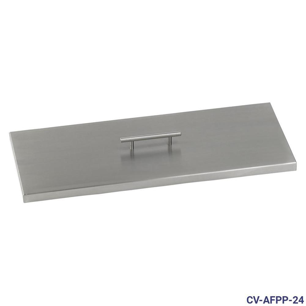 American Fire Glass 24 In X 8 In Stainless Steel Cover Rectangular with measurements 1000 X 1000