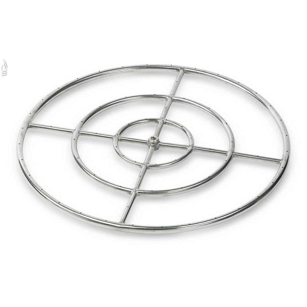 American Fire Glass 30 In Triple Ring 304 Stainless Steel Fire Pit with regard to sizing 1000 X 1000