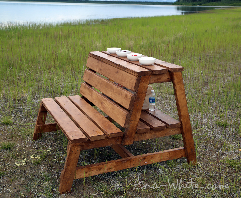 Ana White Firepit Benches With Table And Storage Diy Projects intended for dimensions 1000 X 823