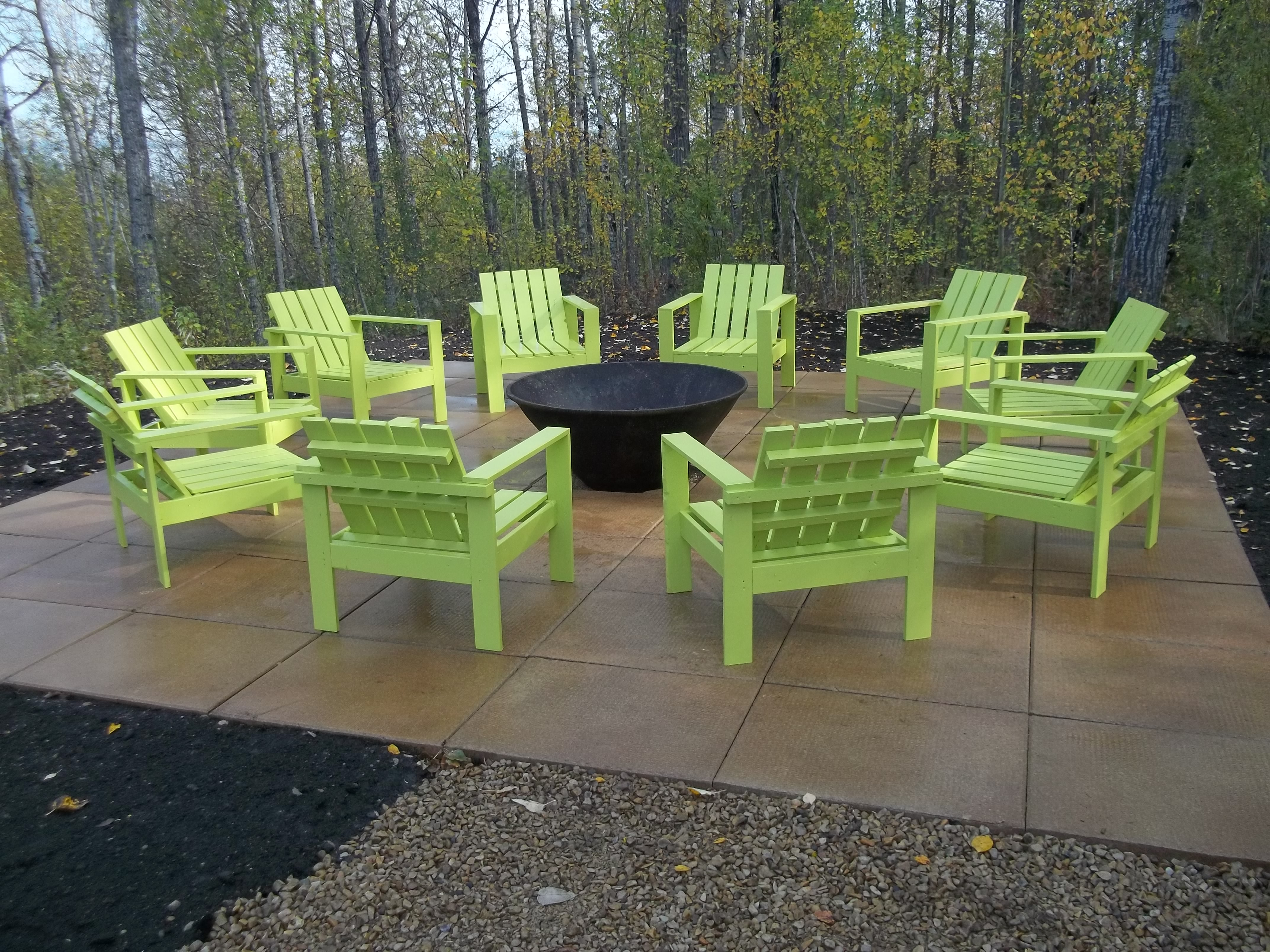 Ana White Simple Outdoor Chairs For The Firepit Diy Projects regarding proportions 4288 X 3216