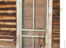 Ancient Exterior Screen Door Log Cabin Boards Retro Stock Photo regarding sizing 957 X 1300