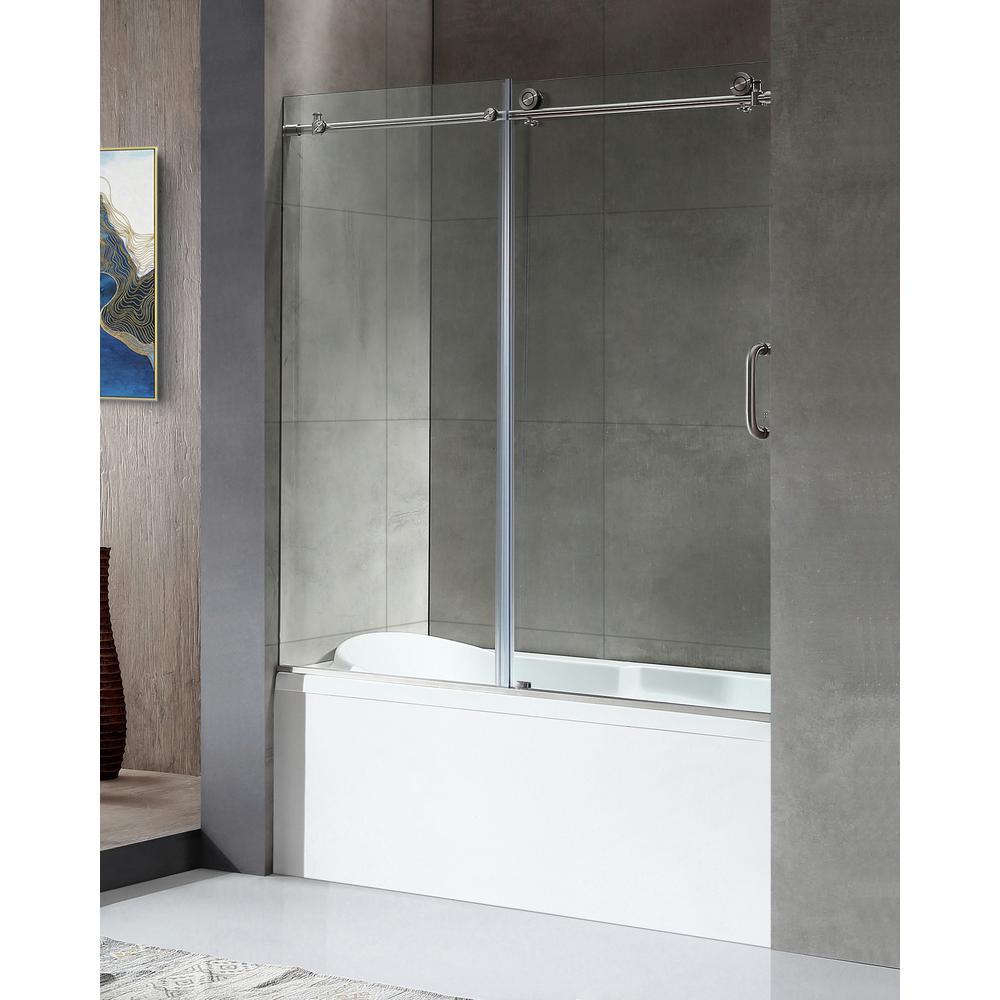 Anzzi Don Series 59 In X 62 In Frameless Sliding Tub Door In in size 1000 X 1000