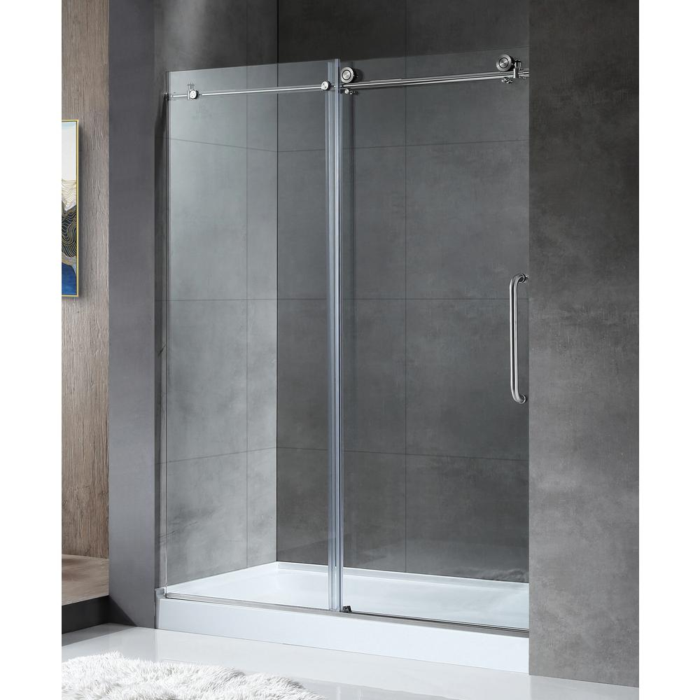 Anzzi Madam Series 48 In 76 In Frameless Sliding Shower Door In for sizing 1000 X 1000