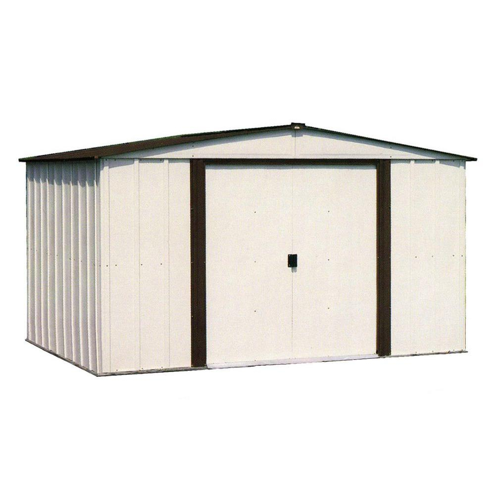 Arrow Newburgh 8 Ft X 6 Ft Metal Storage Building Nw86 The Home with size 1000 X 1000