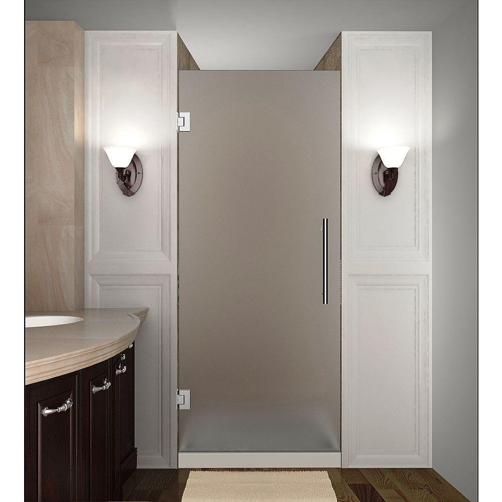 Aston Cascadia 26 In X 72 In Completely Frameless Hinged Shower regarding proportions 1000 X 1000