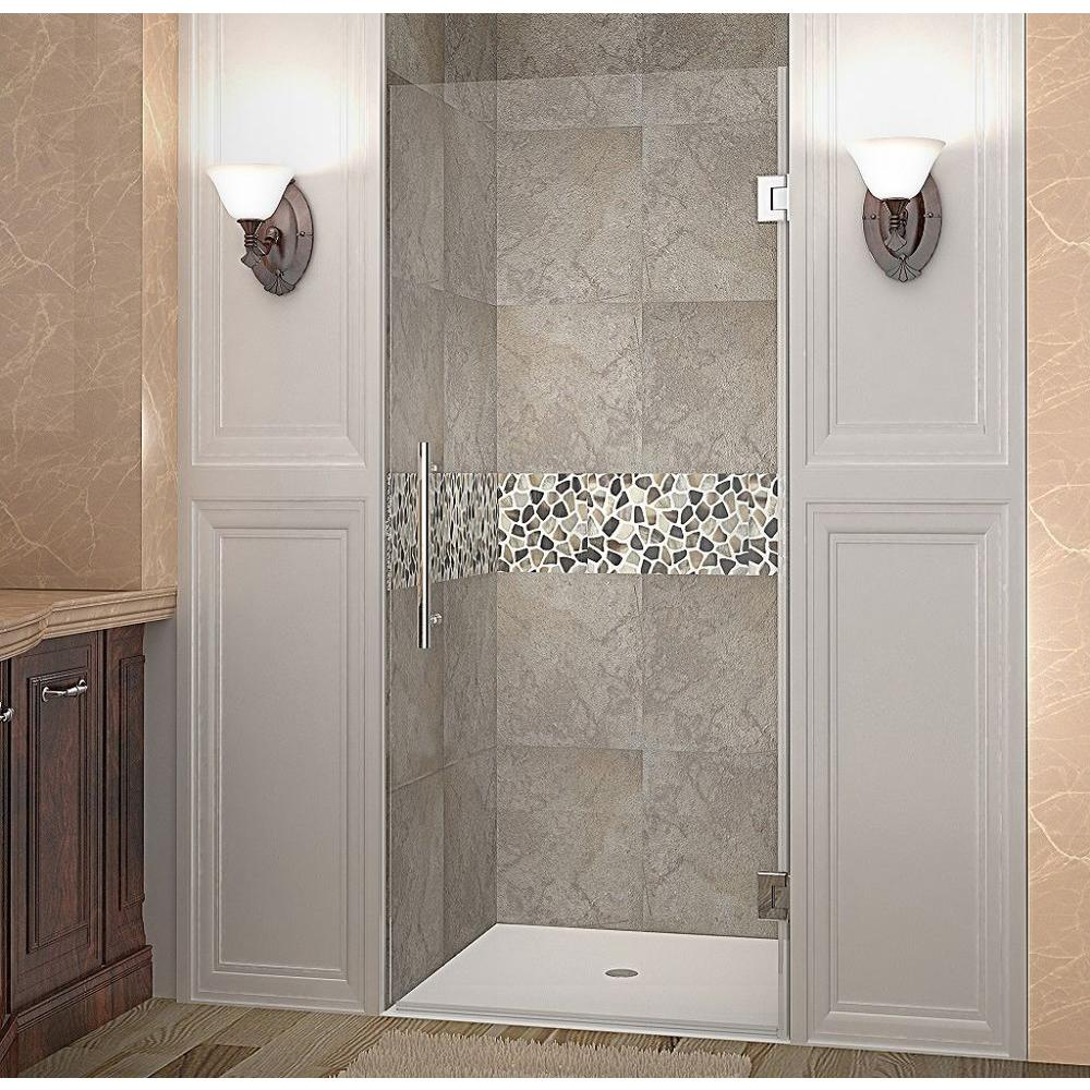 Aston Cascadia 34 In X 72 In Completely Frameless Hinged Shower inside sizing 1000 X 1000