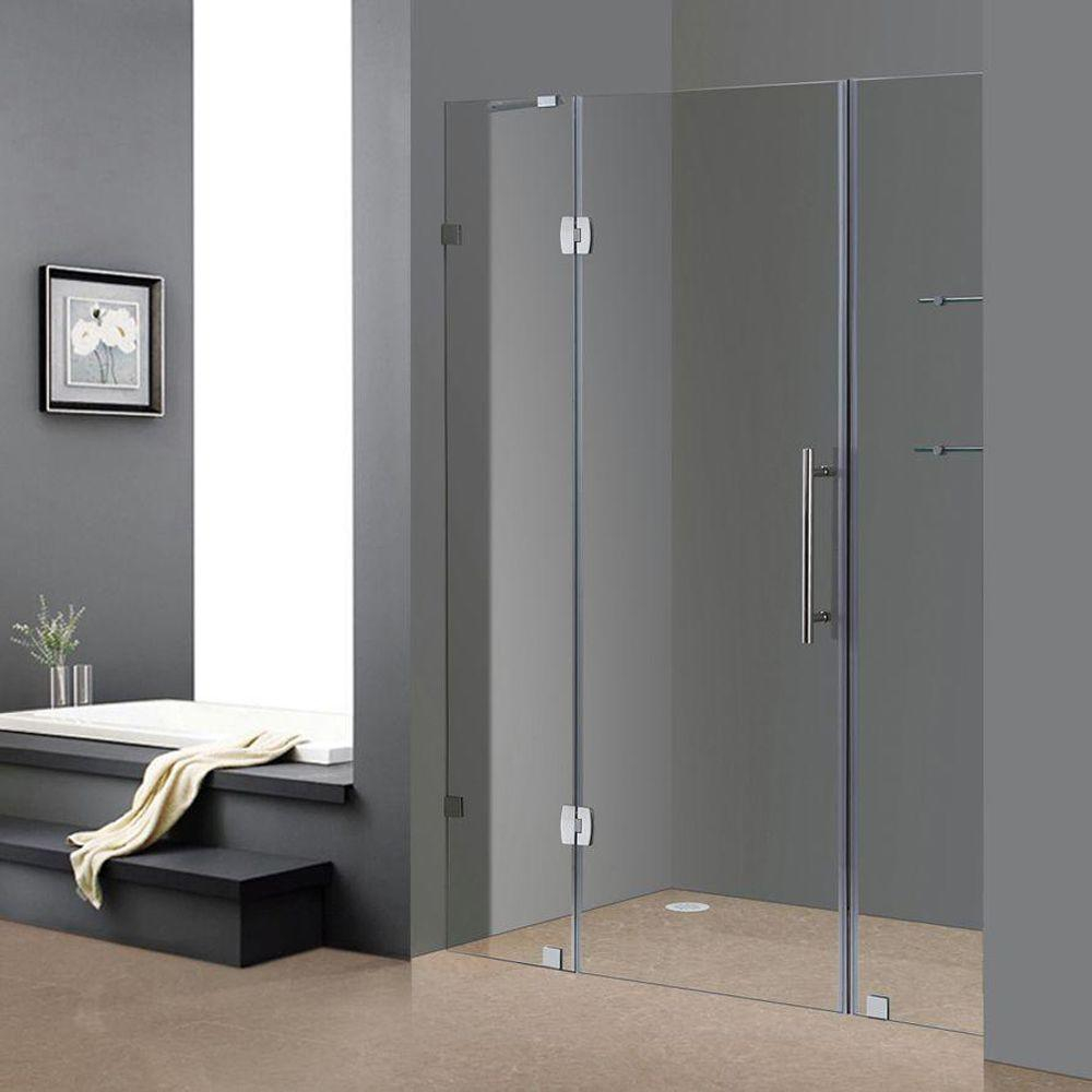 Aston Soleil 60 In X 75 In Completely Frameless Hinged Shower Door with proportions 1000 X 1000