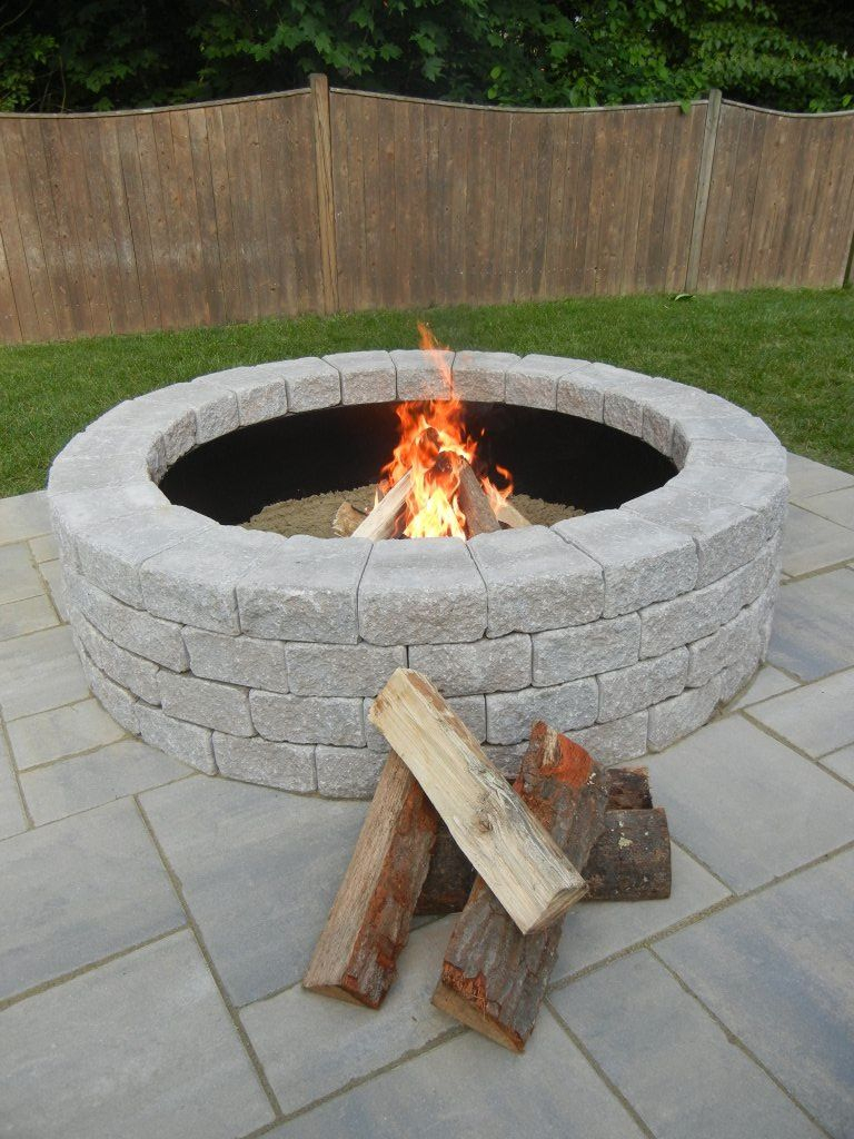 Awesome Simple White Color Fire Pit Design Ideas With White Stone in dimensions 768 X 1024