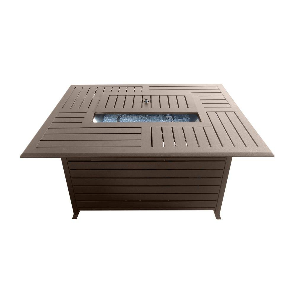 Az Patio Heaters 495 In Rectangle Slatted Aluminum Firepit In intended for proportions 1000 X 1000