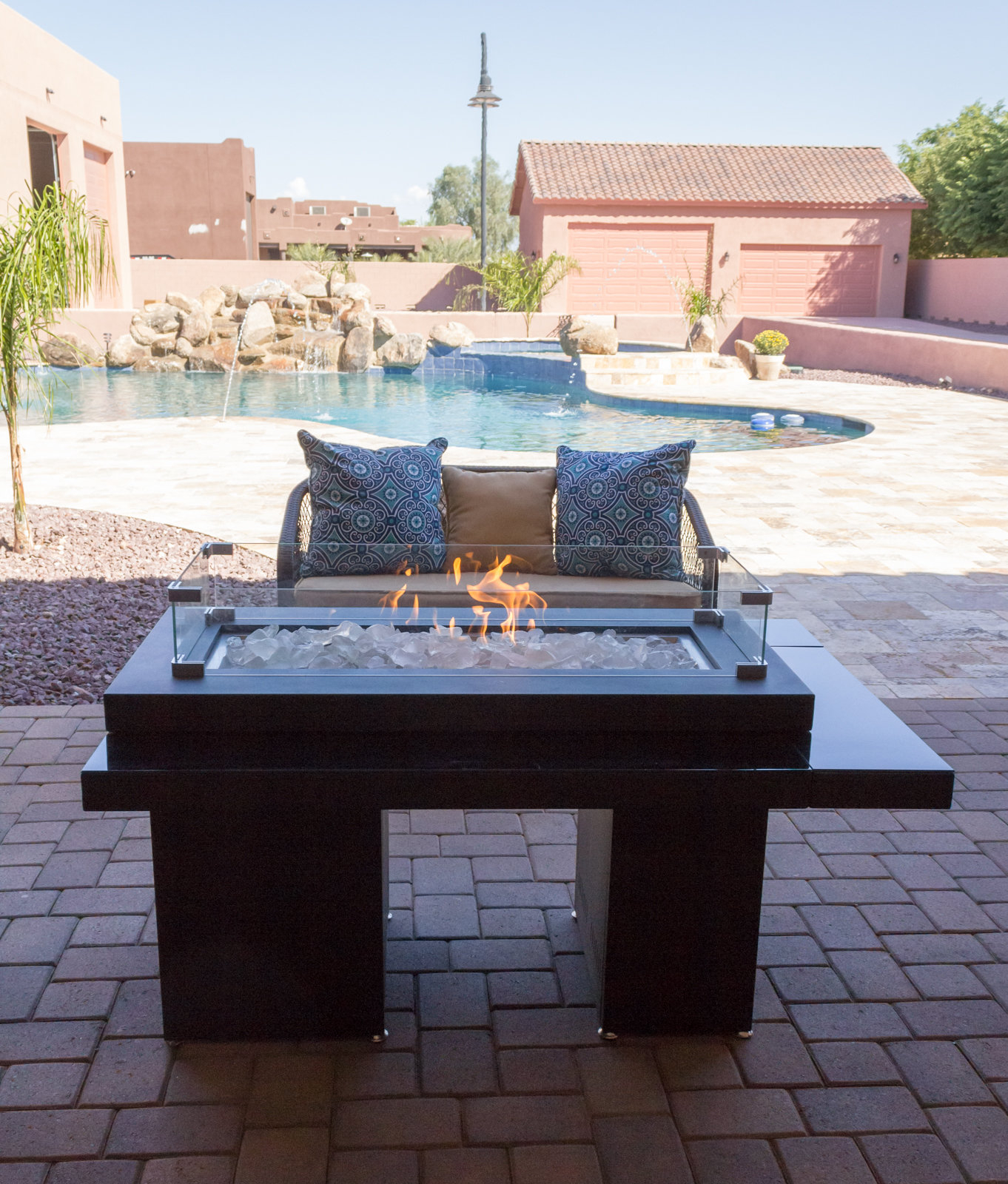 Az Patio Heaters Two Tiered Steel Propane Fire Pit Table Reviews with proportions 1362 X 1600