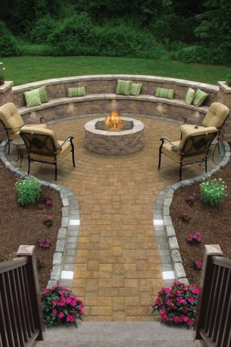 Backyard Fire Pit Ideas And Designs For Your Yard Deck Or Patio for dimensions 735 X 1102