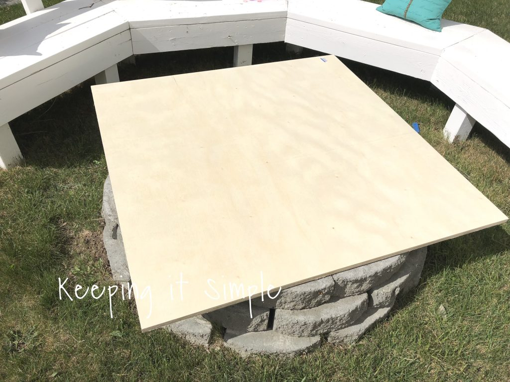 Backyard Ideas Diy Fire Pit Cover Keeping It Simple pertaining to proportions 1024 X 768