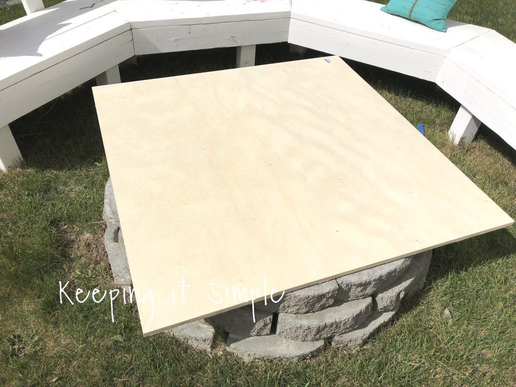Backyard Ideas Diy Fire Pit Cover Keeping It Simple regarding sizing 1024 X 768