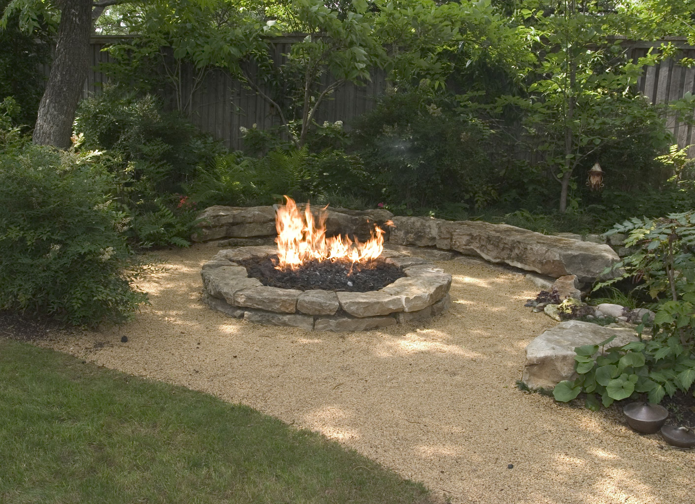 Backyard Landscaping Ideas Attractive Fire Pit Designs Barns intended for measurements 2823 X 2048