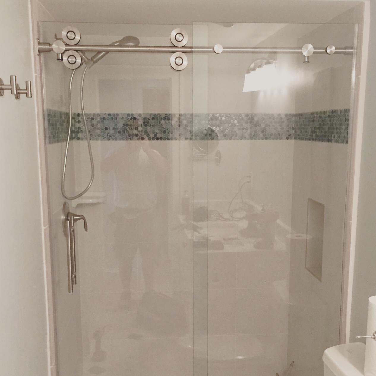 Barn Style Glass Shower Doors Builders Glass Of Bonita Inc inside dimensions 1266 X 1266