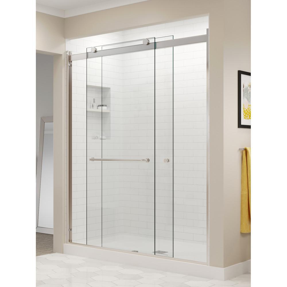 Basco Rotolo 60 In X 76 In Semi Frameless Sliding Shower Door In with sizing 1000 X 1000
