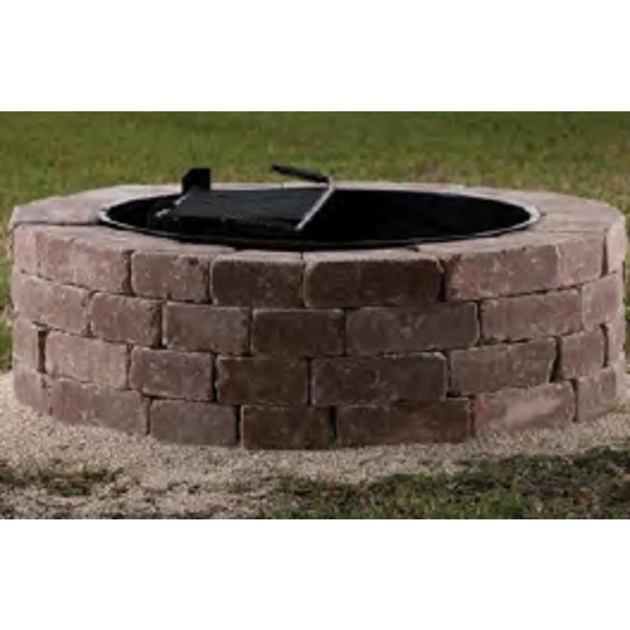 Belgard Firepit Kit 55 In W X 55 In L Rivers Edge Concrete Fire Pit inside proportions 900 X 900