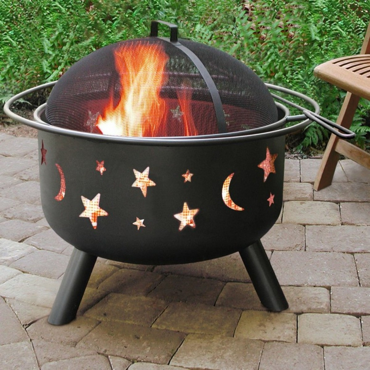 Belleze Outdoor Firepit Diamond Wood Burning Fire Pitonebigoutlet throughout size 1200 X 1200