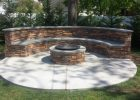 Bench Firepit Complete With Custom Blue Stone Ceraso Masonry with proportions 2048 X 1152