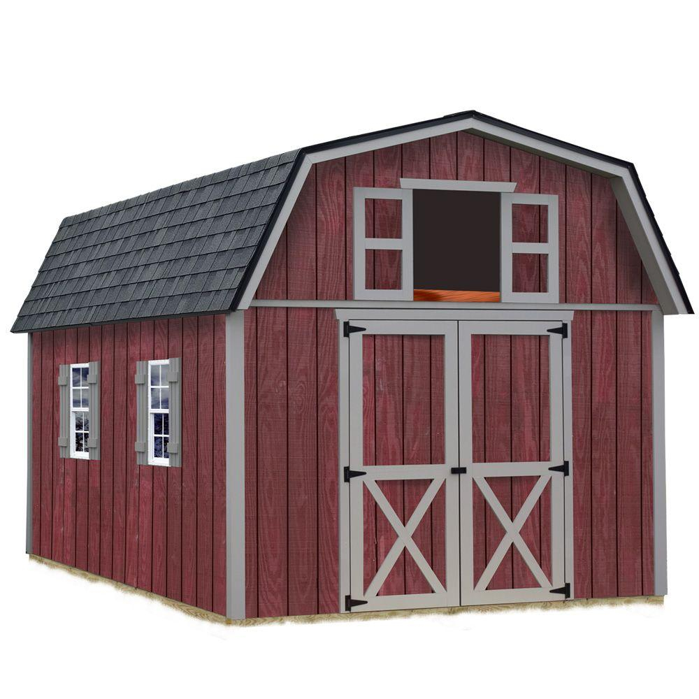 Best Barns Woodville 10 Ft X 12 Ft Wood Storage Shed Kit inside sizing 1000 X 1000